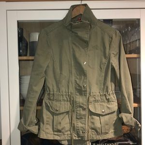 Green Utility Style Jacket